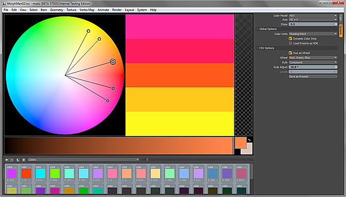 Modo Paint Color Picker